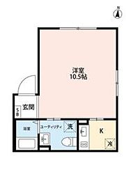 JR総武線 錦糸町駅 徒歩9分の賃貸マンション 5階1Kの間取り