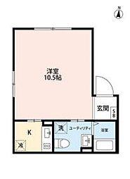 JR総武線 錦糸町駅 徒歩9分の賃貸マンション 4階1Kの間取り