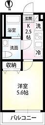東武伊勢崎線 東向島駅 徒歩6分の賃貸マンション 1階1Kの間取り