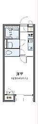 東武野田線 七里駅 徒歩7分の賃貸アパート 2階1Kの間取り
