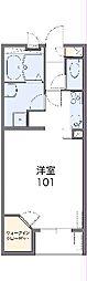 東武桐生線 治良門橋駅 徒歩11分の賃貸アパート 1階1Kの間取り