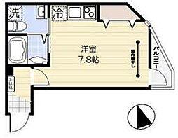 JR京浜東北・根岸線 蒲田駅 徒歩10分の賃貸マンション 1階ワンルームの間取り
