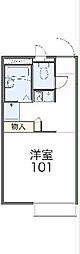 東武伊勢崎線 鷲宮駅 徒歩12分の賃貸アパート 2階1Kの間取り