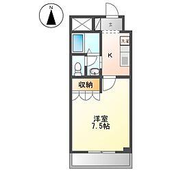 JR東海道本線 大船駅 徒歩16分の賃貸アパート 2階1Kの間取り