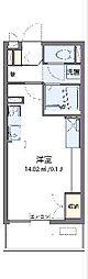 西武多摩湖線 八坂駅 徒歩22分の賃貸マンション 3階ワンルームの間取り