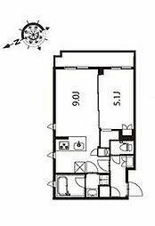 京急本線 立会川駅 徒歩3分の賃貸マンション 2階1LDKの間取り