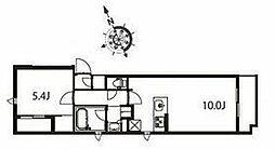 京急本線 立会川駅 徒歩3分の賃貸マンション 5階1LDKの間取り