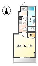 JR高崎線 本庄駅 徒歩4分の賃貸アパート 1階1Kの間取り