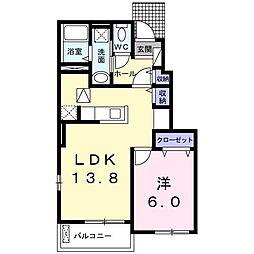 JR土讃線 金蔵寺駅 バス18分 阿瀬集会場前下車 徒歩5分の賃貸アパート 1階1LDKの間取り