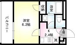 東急大井町線 戸越公園駅 徒歩1分の賃貸マンション 1階1Kの間取り