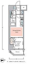 JR総武線 浅草橋駅 徒歩7分の賃貸マンション 3階1DKの間取り
