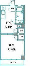 JR総武線 飯田橋駅 徒歩8分の賃貸マンション 3階1DKの間取り