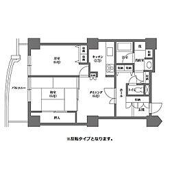都営三田線 千石駅 徒歩4分の賃貸マンション 9階2DKの間取り