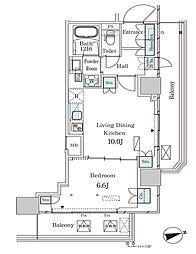 JR山手線 大塚駅 徒歩2分の賃貸マンション 13階1LDKの間取り