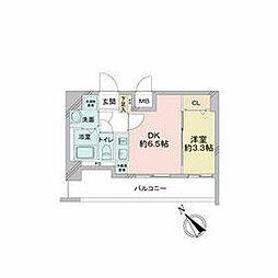 JR中央本線 鶴舞駅 徒歩2分の賃貸マンション 3階1DKの間取り