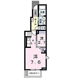 JR東海道本線 沼津駅 徒歩18分の賃貸アパート 1階1Kの間取り