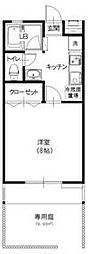 東武東上線 朝霞駅 徒歩5分の賃貸アパート 1階1Kの間取り