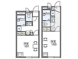 つくばエクスプレス つくば駅 バス8分 東平塚入口下車 徒歩3分の賃貸アパート 2階1Kの間取り