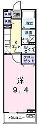 JR常磐線 土浦駅 バス14分 ショッピングセンター下車 徒歩3分の賃貸アパート 2階1Kの間取り