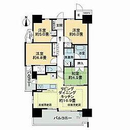 JR東海道・山陽本線 千里丘駅 徒歩15分の賃貸マンション 12階4LDKの間取り