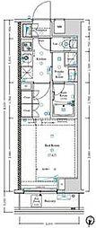 JR総武線 信濃町駅 徒歩6分の賃貸マンション 2階1Kの間取り