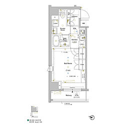 JR山手線 巣鴨駅 徒歩5分の賃貸マンション 6階1Kの間取り