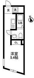 iON西荻窪 1階ワンルームの間取り