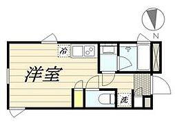東京メトロ丸ノ内線 新宿三丁目駅 徒歩8分の賃貸マンション 4階ワンルームの間取り
