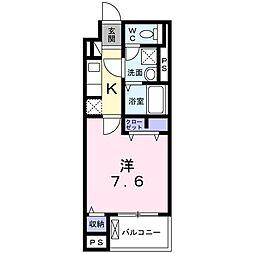 京王線 東府中駅 徒歩11分の賃貸マンション 1階1Kの間取り