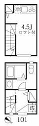 東京メトロ有楽町線 江戸川橋駅 徒歩7分の賃貸アパート 1階ワンルームの間取り
