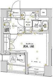 JR京葉線 潮見駅 徒歩6分の賃貸マンション 7階1Kの間取り