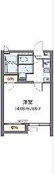 京王線 分倍河原駅 徒歩11分の賃貸アパート 1階1Kの間取り