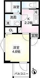 東武伊勢崎線 東向島駅 徒歩9分の賃貸アパート 3階1Kの間取り