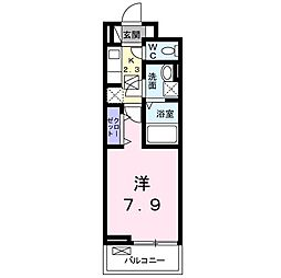 JR両毛線 前橋大島駅 徒歩13分の賃貸アパート 2階1Kの間取り