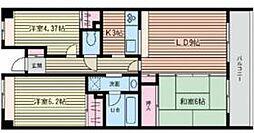 カ・アンジェリ 3階3LDKの間取り