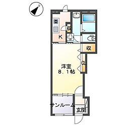 JR常磐線 荒川沖駅 バス10分 中郷下車 徒歩2分の賃貸アパート 1階1Kの間取り