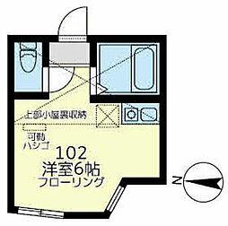 湘南新宿ライン宇須 保土ヶ谷駅 徒歩9分の賃貸アパート 1階ワンルームの間取り
