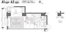 都営大江戸線 月島駅 徒歩6分の賃貸マンション 2階1LDKの間取り