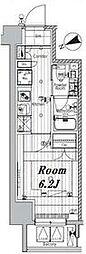 都営三田線 三田駅 徒歩7分の賃貸マンション 3階1Kの間取り