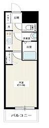 都営新宿線 西大島駅 徒歩12分の賃貸マンション 7階1Kの間取り
