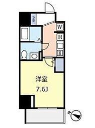 東京メトロ千代田線 千駄木駅 徒歩3分の賃貸マンション 2階1Kの間取り