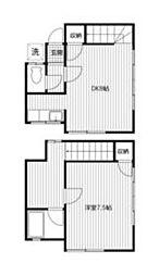 JR京浜東北・根岸線 横浜駅 徒歩15分の賃貸テラスハウス 1階1DKの間取り