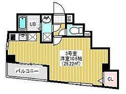 都営新宿線 東大島駅 徒歩5分の賃貸マンション 5階1Kの間取り