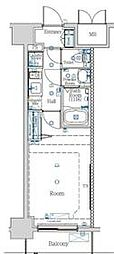 都営新宿線 西大島駅 徒歩12分の賃貸マンション 5階1Kの間取り