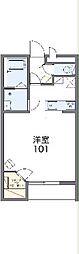 JR東海道本線 三河塩津駅 徒歩8分の賃貸アパート 1階1Kの間取り