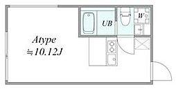 西武池袋線 椎名町駅 徒歩6分の賃貸マンション 1階1DKの間取り