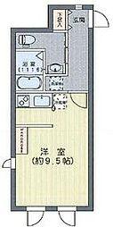 都営三田線 白山駅 徒歩4分の賃貸マンション 3階ワンルームの間取り