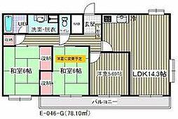 東京メトロ東西線 葛西駅 徒歩22分の賃貸マンション 5階3LDKの間取り