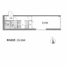 東京メトロ南北線 本駒込駅 徒歩3分の賃貸マンション 4階1Kの間取り