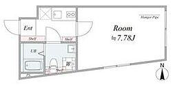 JR中央線 阿佐ヶ谷駅 徒歩9分の賃貸マンション 4階1Kの間取り